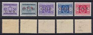 1944 R.S.I. Segnatasse G.N.R. tir. VR n.47-59 nuova MNH** gomma integra Raybaudi