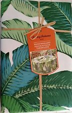 -> Tommy Bahama Home Floral PALM LEAVES Indoor Outdoor Tablecloth 60x102 NIP
