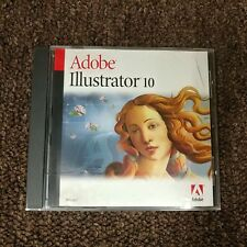 Adobe Illustrator 10 Upgrade CD for Apple Mac Macintosh with Serial Key