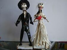 Day of the dead Wedding Couple, Catrina paper mache Decor Mexican Art Wall .
