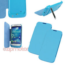 2PCS 3500MAH BACKUP BATTERY CHARGER POWER CASE COVER BLUE SAMSUNG GALAXY S4 S IV