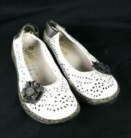 Rieker Women's Slip-On Antistress Flats White Leather Size EU 36/ US 6