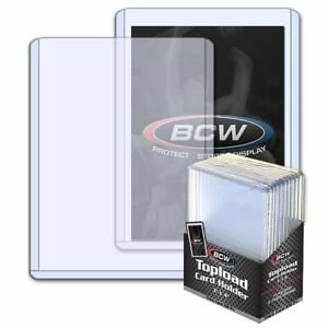 (10 Paquete) BCW Grueso 108pt Toploader Tarjeta Soportes Gran For Relics 2.75MM