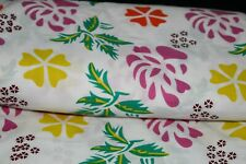 Fabric Cotton Screen Printed Floral Print Indian Craft Sewing Dressmaking 1 Yard