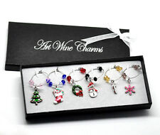 1 HQ Box Mixed Christmas Wine Glass s Table Decorations Box 50x25mm-57x25mm