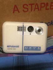 POLAROID INSTANT iZONE 300 CAMERA SLIM BLUE WHITE CHARGER DOCK STATION LANYARD