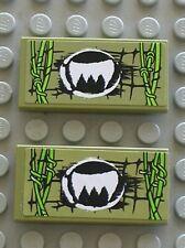 LEGO CHIMA Olive Green Tile 2x4 70006stk01 Ref 87079pb122L 87079pb122R Set 70006