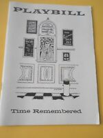 December 23 - 1957 - Morosco Theatre Playbill - Time Remembered - Richard Burton