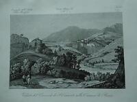 1845 Zuccagni-Orlandini Veduta del Convento di S. Cosimato nella Comarca di Roma
