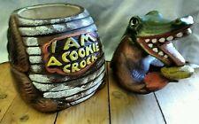 I AM A COOKIE CROCK JAR BY CALIFORNIA ORIGINALS #862 USA 1970s Ceramic Crocodile