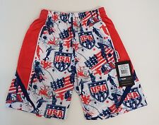 Youth X Small USA Soccer Athletic Shorts Red Flow Society