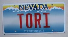 "NV NEVADA Vanity License Plate "" TORI  "" VICTORIA TORIE"
