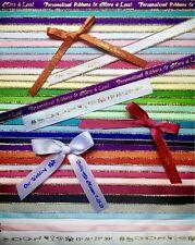 "25 Personalized Ribbon 1/4"" 3/8"" Baptism Communion Quinceañera Recuerdos Bautizo"