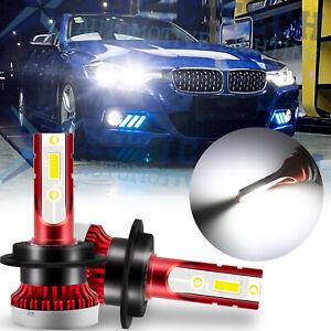 H7 Super White LED High Beam DRL Light Bulbs For BMW E46 F30 320i 330i 3-Series