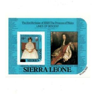 VINTAGE CLASSICS - Sierra Leone 722 - Birthday Revalued - Souvenir Sheet - MNH