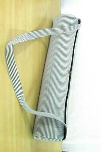 Indian Handmade Yoga Fabric Bag Strip Cotton Gym Mat Carrier Bag Shoulder Strap_
