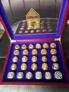 1923-2009 New York Yankees World Series 27 pcs + box Championship ring size 11