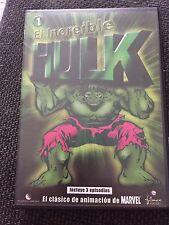 DVD EL INCREIBLE HULK CLÁSICOS  MARVEL  FILMAX STAN LEE COLECCIONISTAS D.A. 1982