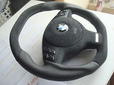 BMW e38 M M3 M5 e39 e46 e53 flat top & bottom Individual steering wheel suede