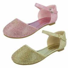 Mädchen Spot On Glitzer Schuhe