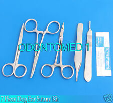 7 Piece Dog Ear Suture Kit Surgical Veterinary Instruments