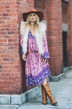 RARE Spell Designs Folktown Boho Maxi Dress Pink - Size S