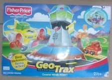 FISHER PRICE GEO TRAX COASTAL WINDS AIRPORT NEW IN DAMAGED BOX
