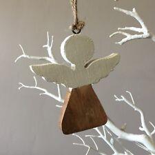 ANGELO di legno decorazione natalizia. SHOELESS Joe. Natale Tradizionale Shabby Chic.