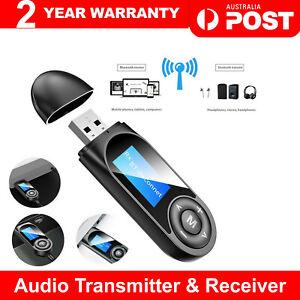 USB Bluetooth 5.0 Transmitter Receiver Audio Adapter AUX 3.5mm TV CAR PC Speaker