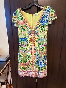 Alice + Olivia Yellow Multi Dress Size 6