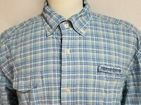 Vineyard Vines Mens sz 2XL Blue Striped Vented Long Sleeve Harbor Fishing Shirt