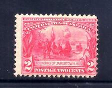 US Stamps - #329 - MNH - 2 cent Jamestown Expo Issue - CV $80