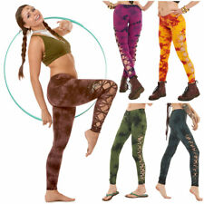 Tie Dye Leggings, Hippy Leggings, Psy Trance Clothing, Braid Leggings, Festival