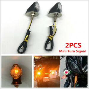 2PCS Motorcycle Flashing Turn Signal Indicator LED Triangle DRL Tail Light Lamp