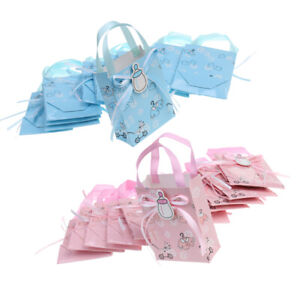24xCute Girl Boy Baby Shower Candy Gift Bags Birthday Party Favor Decor