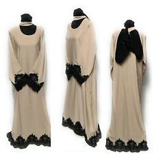 Mujer Closed Vestido Delantero Saudi Largo Abaya Farasha Jilbāb Burka Kacaftan