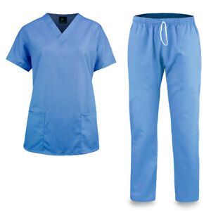 KM51L - Kolossus Women's Cotton Poly Blend Medical Scrubs Set