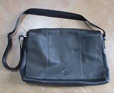 Timberland~Messenger Bag~Black Leather~Shoulder Strap