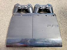 Sony PlayStation 3 PS3 Super Slim 500GB Console + 2 Controller NO POWER CORD