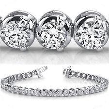 13.50 ct Round Diamond Platinum Tennis Bracelet 29 x 0.46 ct each G SI1 clarity