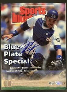 Mike Piazza Signed Sports Illustrated 7/5/93 No Label Dodgers Auto MLB Fanatics