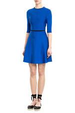 $1050 VICTORIA BECKHAM Open Back Detail Skater Dress, Moroccan Blue size 8