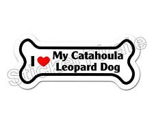 I Love My Catahoula Leopard Dog Dog Bone Bumper Sticker Decal Db 173