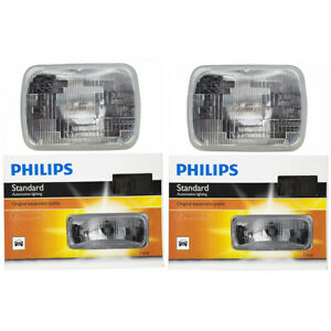 2 pc Philips High Low Beam Headlight Bulbs for Mazda 626 B2000 B2200 B2600 ib