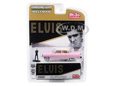 1955 CADILLAC FLEETWOOD SERIES 60 PINK W/ ELVIS FIGURINE 1/64 GREENLIGHT 51210