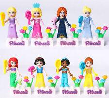 New 8PCS Disney Princess Mini figures Building Blocks Girls Toy Birthday Gift