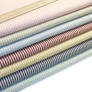 Ticking Stripes Printed 100% Cotton Poplin Fabric by Rose & Hubble Fashion Dress