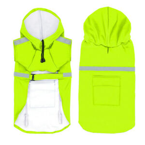 Reflective Dog Rain Coat Waterproof Hoodie Clothes for Small to Extra Large Dogs