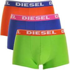 DIESEL Men's Fresh & Bright 3-Pack Boxer Trunk UMBX-Shawn, Orange / Blue / Green