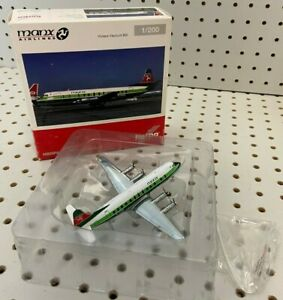 """Herpa 1:200 Manx Airlines Vickers Viscount 5.5"""" W/S Tail #G-AZNA Item #556866"""